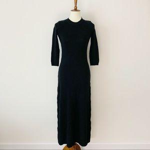Zara Sweater Dress Black Long